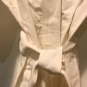 J. Crew Dresses - J. Crew Collection Belted Trench Dress White 8